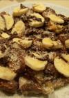 チョコバナナのパンプディング