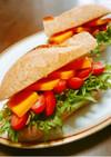 Wチーズdeカレー春雨クラブサンドイッチ