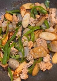 懐かしい田舎風の豚肉ごぼう味噌煮込みを