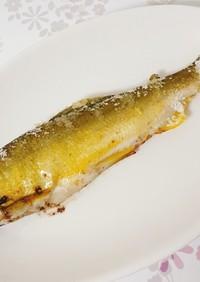 オーブンで作る鮎の塩焼き