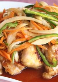 味噌漬け鶏の南蛮*金山寺漬の素・りんご酢