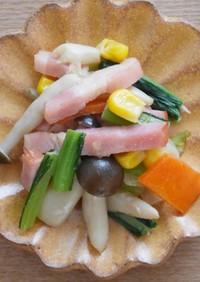 幼児食 保育園給食 きのこと野菜のソテー