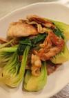 ミニ青梗菜と豚肉の山椒炒め