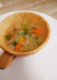 簡単!野菜たっぷり生姜コンソメスープ