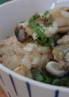 新ショウガと大葉香る♪牡蠣ご飯