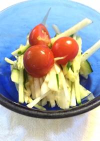 ヘルシードレッシング簡単大根トマトサラダ