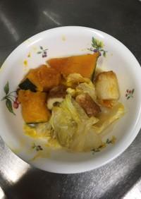 かぼちゃと白菜のあっさり煮