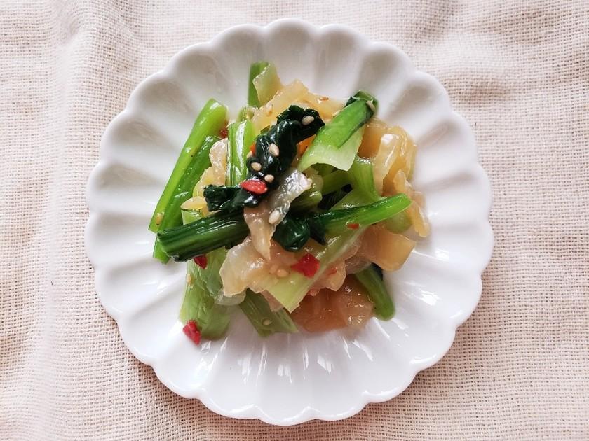 簡単に美味しく一品♪小松菜と中華くらげ♡
