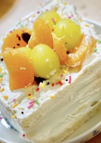 1歳2歳のためのお祝いケーキ♪