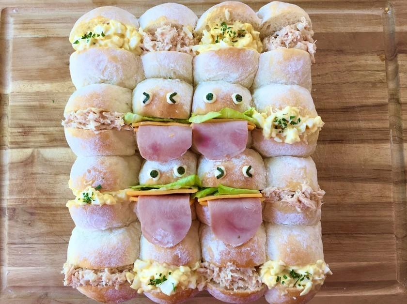 ランチ◉お弁当にちぎりパンサンドイッチ