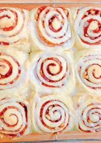甘さ控えめシナモンロールちぎりパン