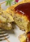 鶏モモ挽肉と玉ねぎのスパニッシュオムレツ