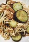 ナスとツナの和風パスタ(糖質ゼロ麺)