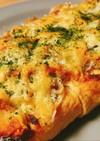 簡単おつまみ*油揚げのしらすチーズ焼き