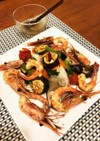 簡単 温野菜とシュリンプのサラダ