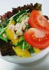 混ぜるだけ!ツナと水菜、きゅうりのサラダ