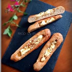 自家製酵母種で/クリームチーズと蜂蜜パン