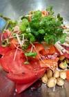 トマトと蒸し大豆サラダ