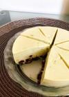 抹茶小豆の高タンパク豆腐チーズケーキ