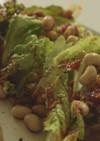 食べラー油 レタス まめ イチジクサラダ