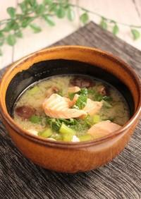 簡単!銀鮭と椎茸の白味噌汁
