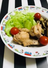 炊飯器で ナスと手羽元の麺つゆ煮 簡単