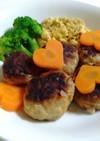 犬用♡野菜と卵のハンバーグプレート