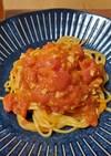 テレビで見たミニトマトのパスタ