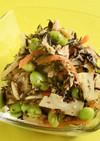 ひじきと枝豆の梅肉サラダ