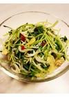 水菜としらすのペペロンチーノ風炒め