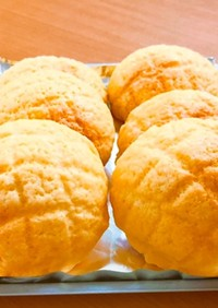薄力粉100%♡ふかふかメロンパン