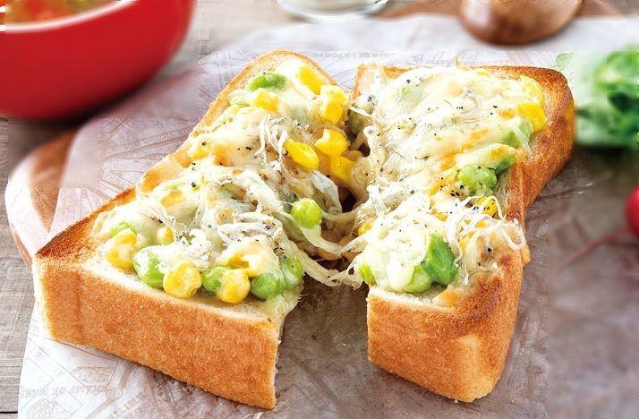 枝豆トースト