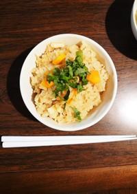 なめたけ缶で簡単玄米炊き込みご飯★☆