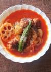 卵不要★焼き肉団子とチーズの具沢山スープ