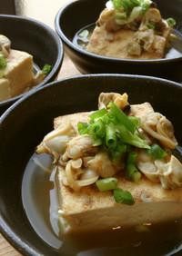 焼き豆腐とあさりの煮物