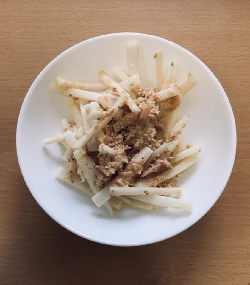 大根のツナ柚マヨ和え