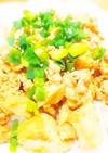鶏そぼろ豆腐丼