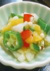 簡単夏野菜とオクラの山形の山葵だし