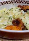 タッカルビ風ササミとナスのマヨチーズ焼き