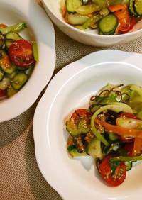 チンゲン菜塩昆布サラダ