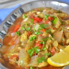 トルコの家庭料理☆丸ごと焼き野菜のサラダ