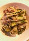 ズッキーニと玉ねぎのわさびツナマヨサラダ