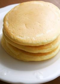 豆乳で手作りホットケーキ♪簡単ふわり!