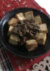 牛肉と豆腐の醤油麹焼き