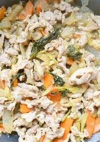 豚と野菜の甘辛炒め煮(味噌入り)