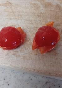 ポットのお湯だけでミニトマト湯剥き