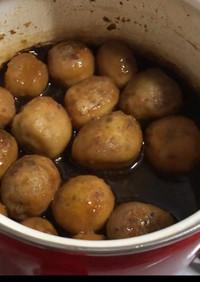 皮むきが簡単な里芋の煮っころがし&保存法