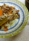 ❄しらたきのチャプチェ&シイタケの味噌汁