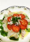 真鯛のカルパッチョ☆フルーツトマト添え☆