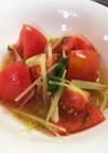 簡単◎トマトと水菜のマリネサラダ